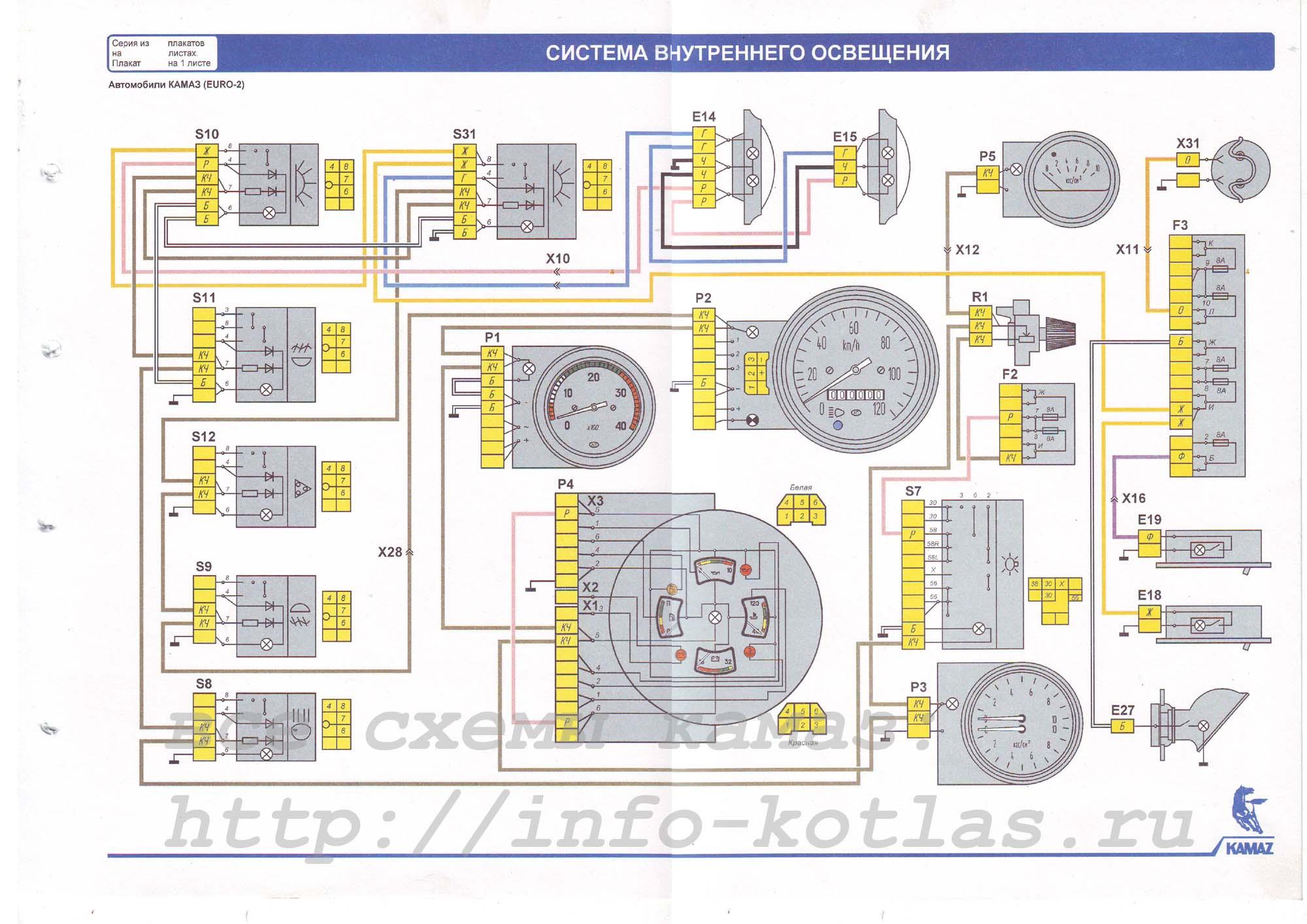 Cхема_внутреннего_освещения_камаз_EURO-2